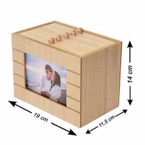 Ahşap Sandıklı 10cmx15cm Fotoğraf Albümü - Thumbnail