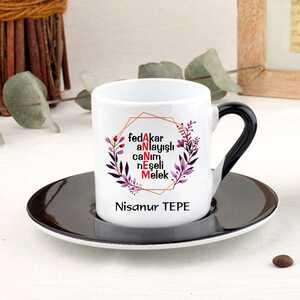 Anneye Özel İsimli Türk Kahvesi Fincanı - Thumbnail