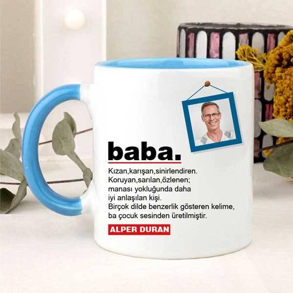 Babaya Özel Fotoğraflı Kupa Bardak