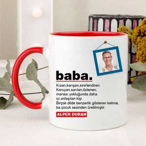 Babaya Özel Fotoğraflı Kupa Bardak - Thumbnail