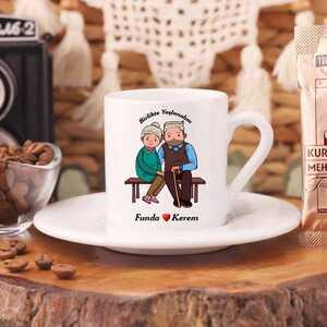 Birlikte Yaşlanalım Türk Kahve Fincanı - Thumbnail