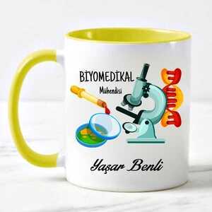 Biyomedikal Mühendisine Hediye Kupa Bardak - Thumbnail