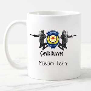 - Çevik Kuvvet Polisine Hediye Kupa Bardak