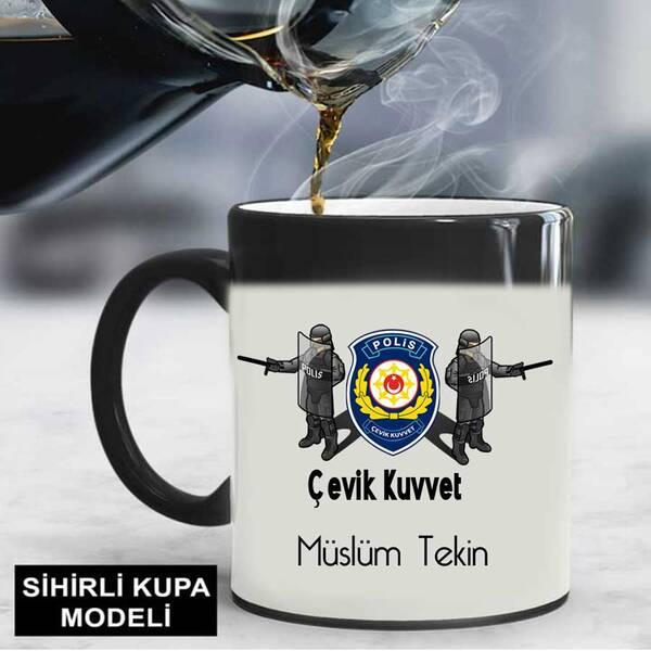 Çevik Kuvvet Polisine Hediye Kupa Bardak