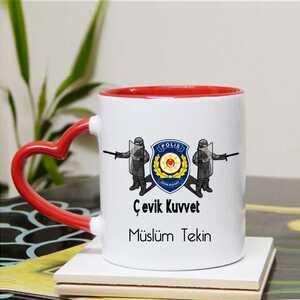 Çevik Kuvvet Polisine Hediye Kupa Bardak - Thumbnail