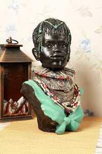 - Dekoratif Afrikalı Kadın Biblo
