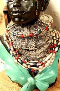 Dekoratif Afrikalı Kadın Biblo - Thumbnail