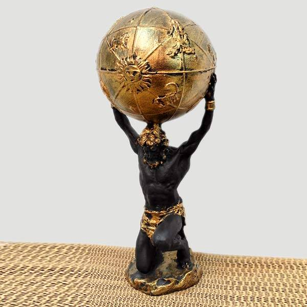 Dekoratif Dünyayı Taşıyan Atlas Biblo