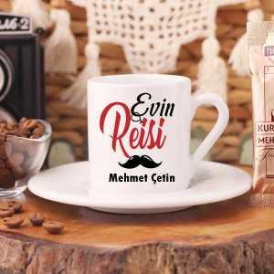 Evin Reisi İsimli Türk Kahve Fincanı - Thumbnail
