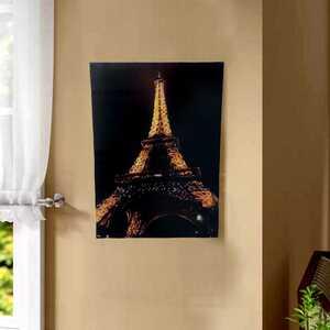 - Eyfel Kulesi Gece Görünümlü Kanvas Tablo 50cmx70cm