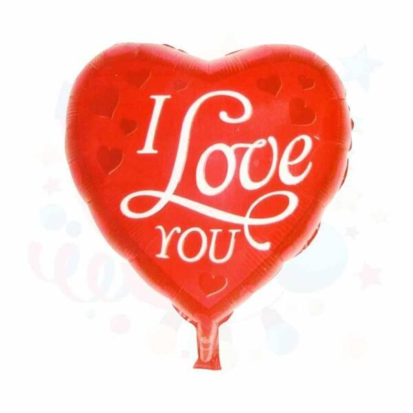 I love You Kalp Folyo Balon