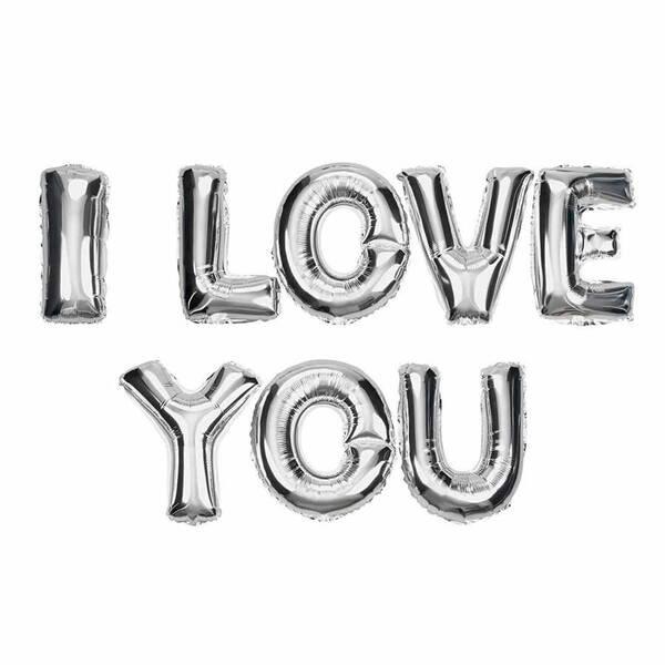 I Love You Yazılı Harf Balon