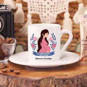 İlkanneler Günü Kutlu Olsun Türk Kahve Fincanı - Thumbnail