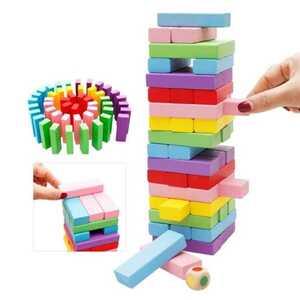 Jenga Denge ve Beceri Oyunu Wiss Toy 54 Parça - Thumbnail
