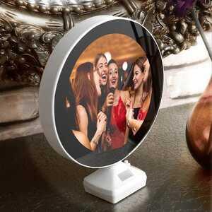 Kişiye Özel Fotoğraflı Sihirli Ayna | Yuvarlak - Thumbnail