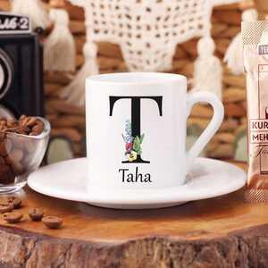 - Kişiye Özel İsimli Türk Kahvesi Fincanı