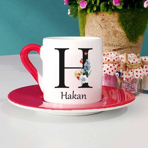 Kişiye Özel İsimli Türk Kahvesi Fincanı