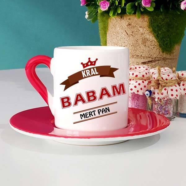 Kral Babam İsimli Türk Kahve Fincanı