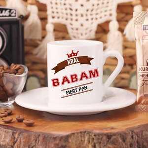 Kral Babam İsimli Türk Kahve Fincanı - Thumbnail