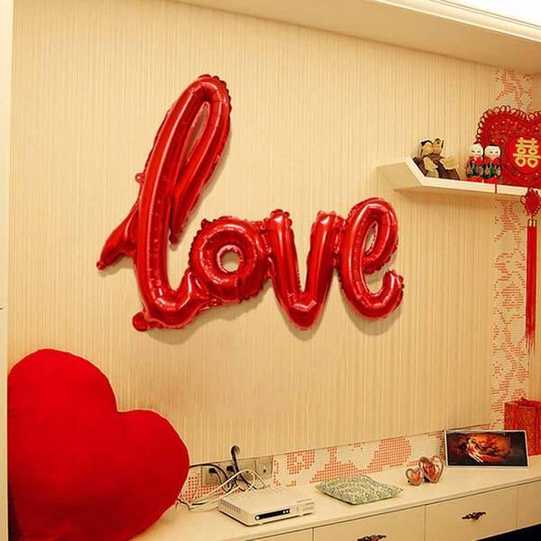 Love Yazılı Şekilli Balon