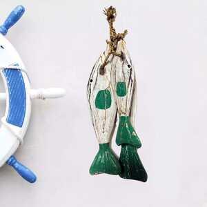 Marina 3'Lü Balık Dekoratif Duvar Süsü - Thumbnail