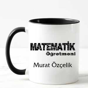 - Matematik Öğretmeni İsimli Kupa Bardak