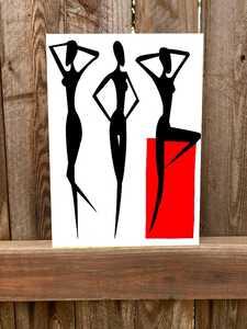 - Modern Kadın Kanvas Tablosu 50cmx70cm