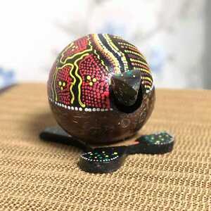 - Motif Desenli Ahşap Kafa Sallayan Kaplumbağa