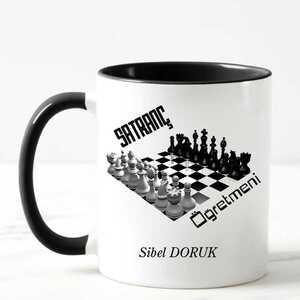- Satranç Öğretmenine Hediye Kupa Bardak