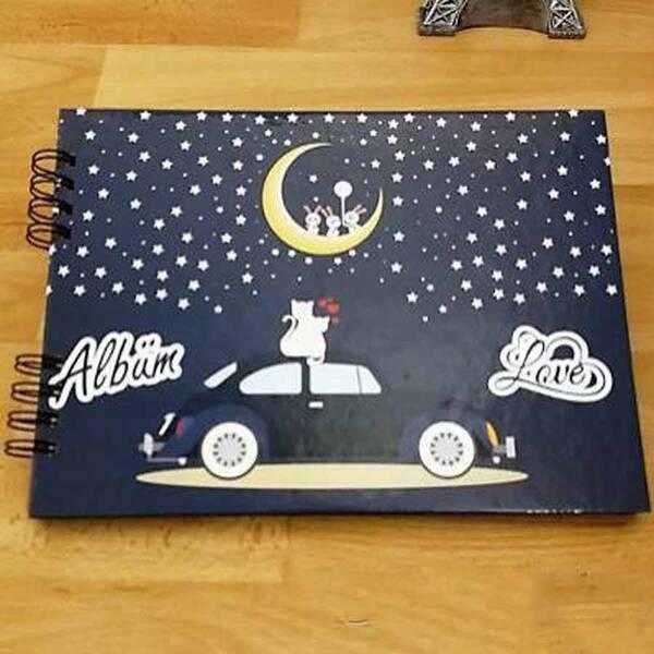Sevgiliye Gece Temalı Yapıştırmalı Fotoğraf Albümü