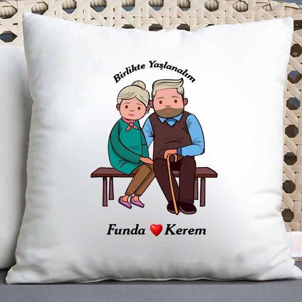 Sevgiliye Hediye Birlikte Yaşlanalım Yastık