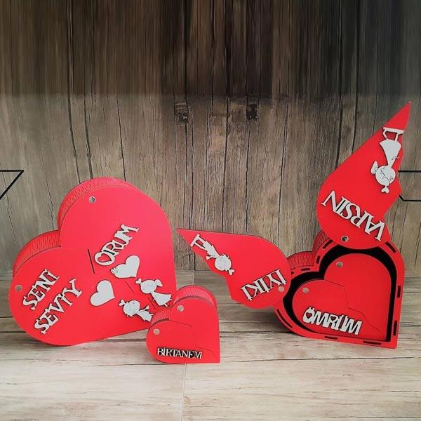 Sevgiliye Özel 4 Lü Hediye Kutu Seti