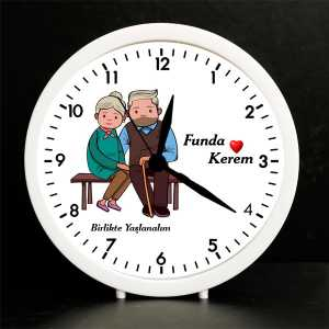 Sevgiliye Özel Birlikte Yaşlanalım Çalar Saat - Thumbnail