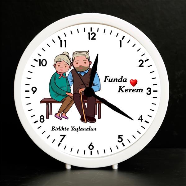 Sevgiliye Özel Birlikte Yaşlanalım Çalar Saat
