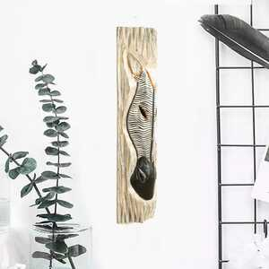 - Zebra Çizgi Desenli Dekoratif Ağaç Oymalı Maske